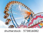 ferris wheel without people  at ... | Shutterstock . vector #573816082