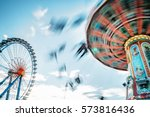Ferris Wheel And Carousel In...