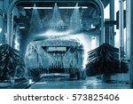 car wash  car wash foam water ...   Shutterstock . vector #573825406