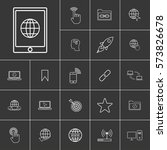 tablet. linear internet icons...