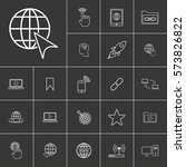 linear internet icons set....