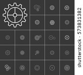 setting or gears icons set.... | Shutterstock .eps vector #573831382