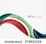 colorful elegant flowing wave.... | Shutterstock .eps vector #573832228