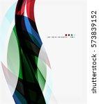 vector elegant wave background. ... | Shutterstock .eps vector #573839152