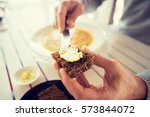 restaurant  couple and holiday... | Shutterstock . vector #573844072