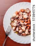 Octopus Salad On Plate With...