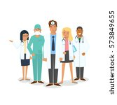 doctors and surgeons set. set... | Shutterstock . vector #573849655