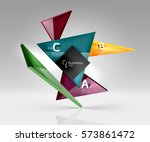 geometric glass triangles... | Shutterstock .eps vector #573861472