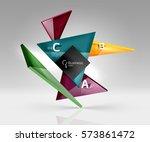 geometric glass triangles... | Shutterstock .eps vector #573861472