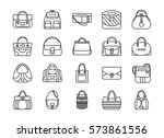 set of contour line icon.... | Shutterstock .eps vector #573861556