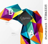 low poly polygonal triangle...   Shutterstock .eps vector #573863335
