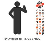 proposal pose pictograph with... | Shutterstock .eps vector #573867802
