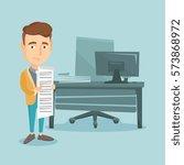 caucasian business man standing ... | Shutterstock .eps vector #573868972
