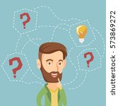 caucasian hipster businessman... | Shutterstock .eps vector #573869272