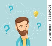 caucasian hipster business man... | Shutterstock .eps vector #573869308