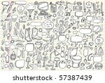 notebook doodle clip art design ... | Shutterstock .eps vector #57387439