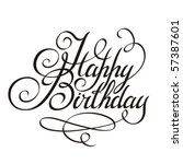 birthday | Shutterstock .eps vector #57387601
