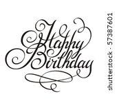 birthday | Shutterstock .eps vector #57387601