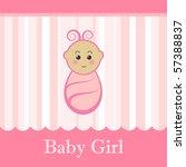 Cute Baby Girl Pink Card.