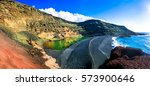 el golfo with unique lago verde ...   Shutterstock . vector #573900646