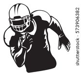 american football player.... | Shutterstock .eps vector #573906382
