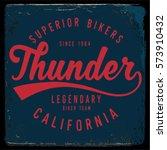 vintage biker graphics and... | Shutterstock .eps vector #573910432