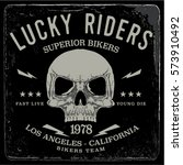 vintage biker graphics and... | Shutterstock .eps vector #573910492