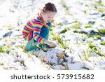 Cute Little Girl In Colorful...