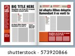 graphical design newspaper... | Shutterstock .eps vector #573920866