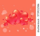 valentines day background with... | Shutterstock .eps vector #573921586