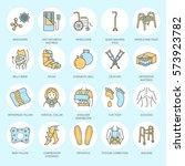 orthopedic  trauma...   Shutterstock .eps vector #573923782