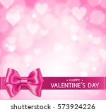 pink valentine's day love... | Shutterstock .eps vector #573924226