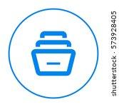 folder archive. cabinet. drawer.... | Shutterstock .eps vector #573928405