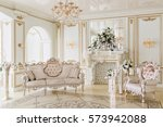 luxurious vintage interior with ... | Shutterstock . vector #573942088