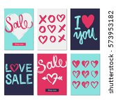 valentines day sale background. ... | Shutterstock .eps vector #573953182
