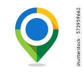 map pointer  pin  with colorful ... | Shutterstock .eps vector #573959662