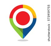 map pointer  pin  with colorful ... | Shutterstock .eps vector #573959755