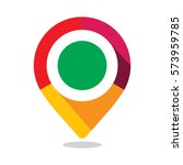 map pointer  pin  with colorful ... | Shutterstock .eps vector #573959785