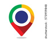 map pointer  pin  with colorful ... | Shutterstock .eps vector #573959848