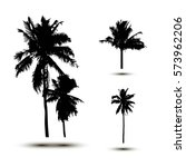 realistic silhouettetropical...   Shutterstock .eps vector #573962206
