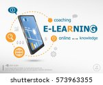 word cloud e learning concept... | Shutterstock .eps vector #573963355