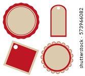 vector badges stickers labels... | Shutterstock .eps vector #573966082