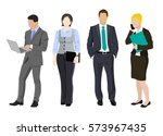 office workers  business people ... | Shutterstock .eps vector #573967435