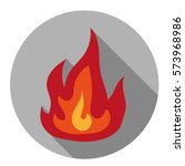 fire icon. flat design. | Shutterstock .eps vector #573968986