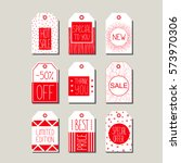 vector collection of red and... | Shutterstock .eps vector #573970306