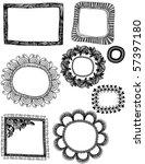 set of hand drawn doodle frames | Shutterstock .eps vector #57397180