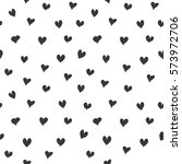 hand drawn heart pattern design.... | Shutterstock .eps vector #573972706