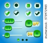 green buttons. gui and ui...
