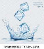 transparent vector water splash ... | Shutterstock .eps vector #573976345