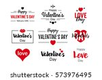 valentines day typographic text ...   Shutterstock .eps vector #573976495
